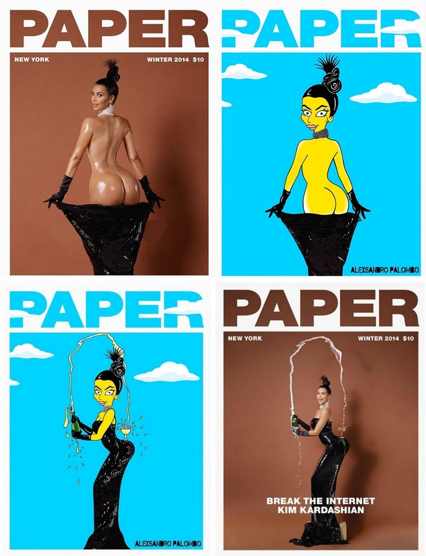 1-Kim Kardashian West Booty Paper Cover Art by Artist aleXsandro Palombo Icon Iconic Butt Booty Bum Painting Illustration Humor Chic Epic Cartoon Legend Epic 2a