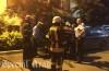 Un autoturism Volvo a luat foc în Arad! Pompierii s-au deplasat la locul accidentului după un apel la 112 (FOTO)