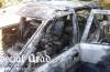 Tragedie la Săvârșin. O persoană a murit în interiorul mașinii, în flăcări! (Galerie foto)