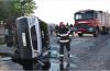 Accident cu nouă răniți grav pe Arad-Deva. Șoferul unui microbuz a adormit la volan
