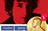 """BOB DYLEMMA. Bob Dylan și Premiul său Nobel se distrează reciproc cu butoanele """"Accept"""" și """"Block user"""""""