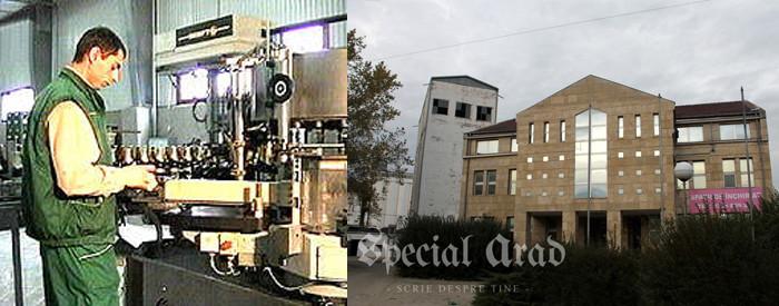 Fabricarea berii Arbema Premium Pils în 1999 (foto: virtualarad.net) și fabrica astăzi - de închiriat