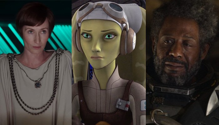 Mon Mothma, Hera Syndulla, Saw Gerrera. Foto: LucasFilm Ltd. / Wookiepedia