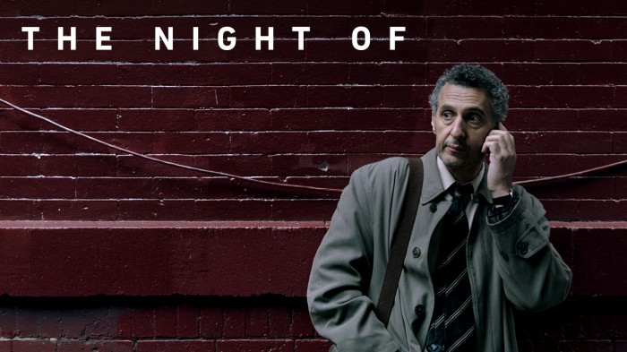 """O altă producție nouă de mare succes, marca HBO, """"Night of"""" are tot 3 nominalizări, printre care"""