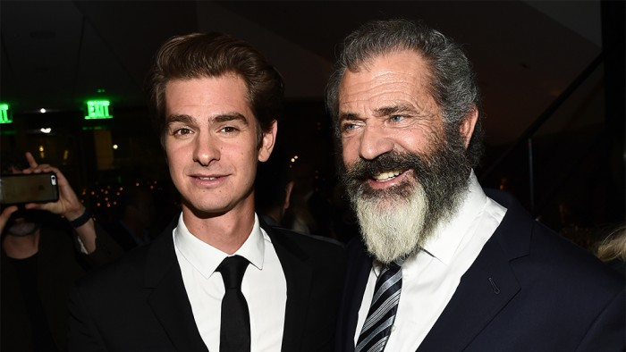 Mandatory Credit: Photo by Buckner/Variety/REX/Shutterstock (6727170f) Andrew Garfield and Mel Gibson 'Hacksaw Ridge' film premiere, After Party, Los Angeles, USA - 24 Oct 2016