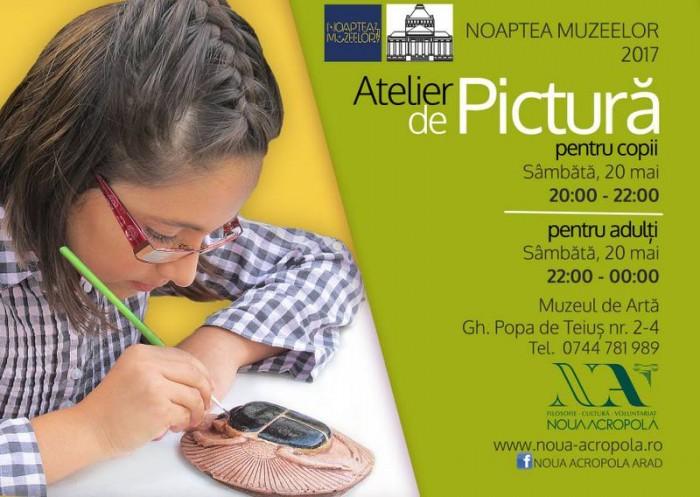 ateliere pictura cu voluntarii Noii Acropole Arad_Muzeul de arta