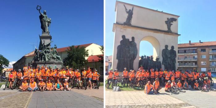 ciclistii Liceului Unitarian János Zsigmond Cluj-Napoca la Arad