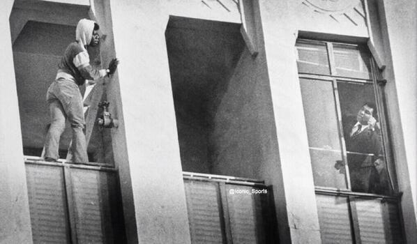 Muhammad Ali şi un bărbat care încearcă să se sinucidă