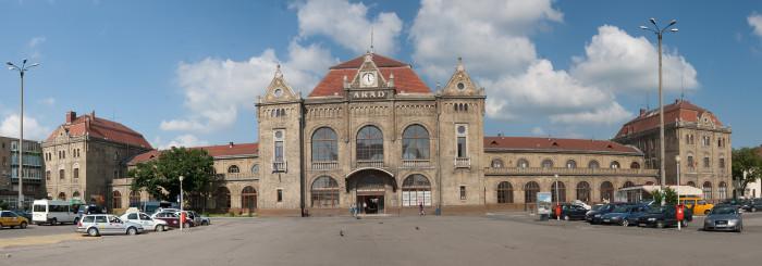 Bahnhof, Arad, Rumänien