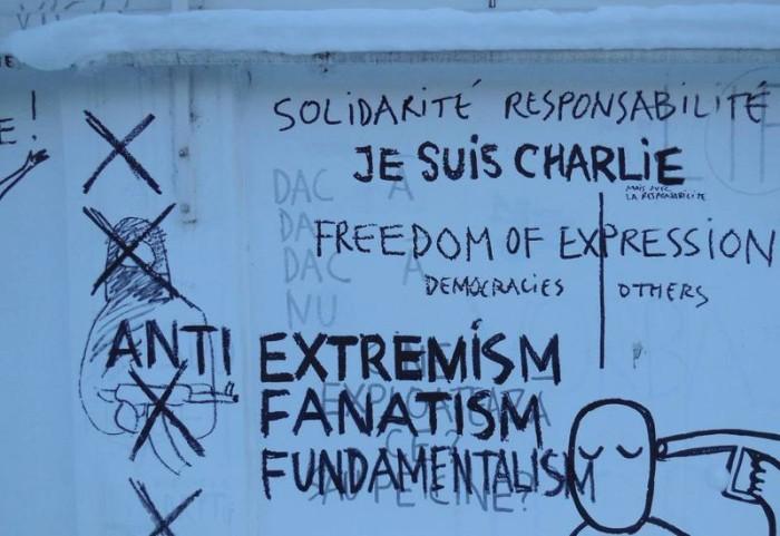Dan Perjovschi Charlie Hebdo atac terorist Paris (3)