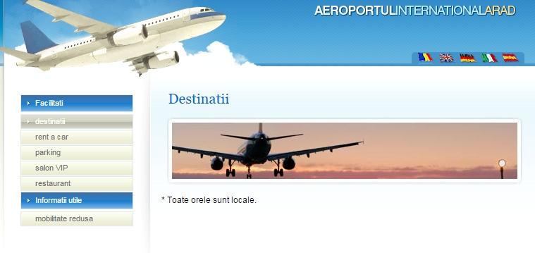 aeroportul arad destinatii online