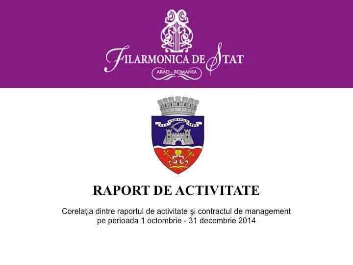 raport activitate filarmonica 2014 1