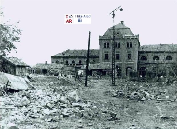 gara arad bombardata in 1944