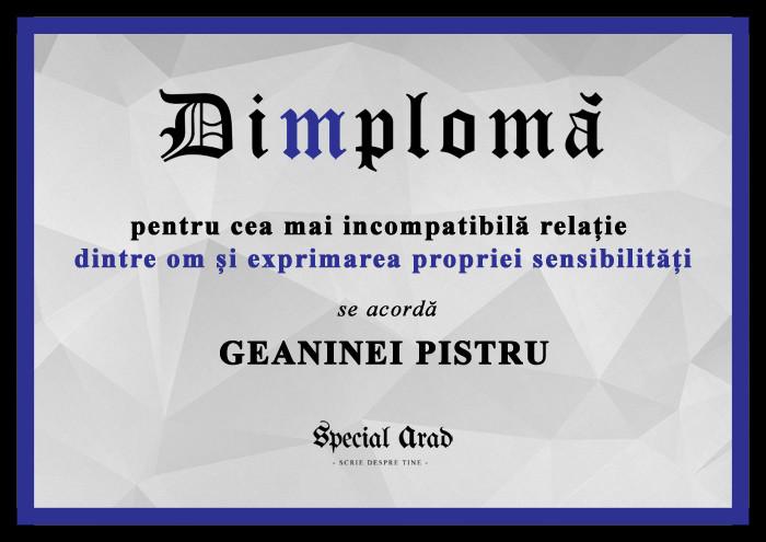 DIMPLOMA GEANINEI PISTRU