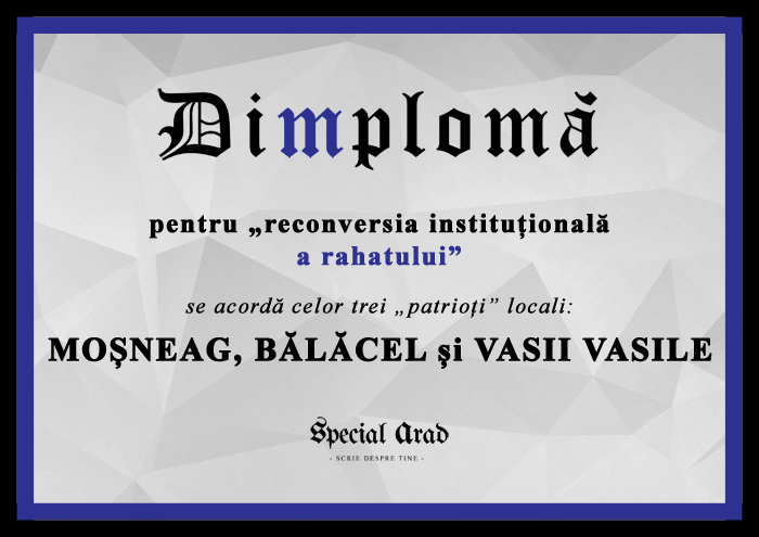 DIMPLOMA MOȘNEAG, BĂLĂCEL și VASII VASILE