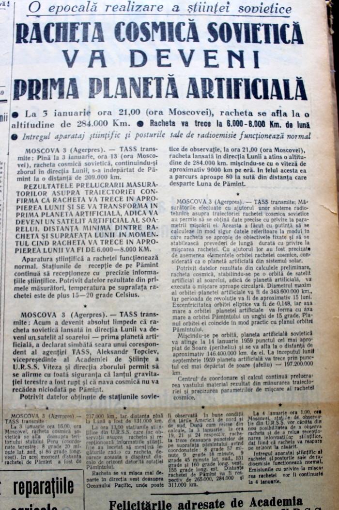 Scînteia Tineretului Racheta Cosmică Sovietică va deveni prima planetă artificială (2)