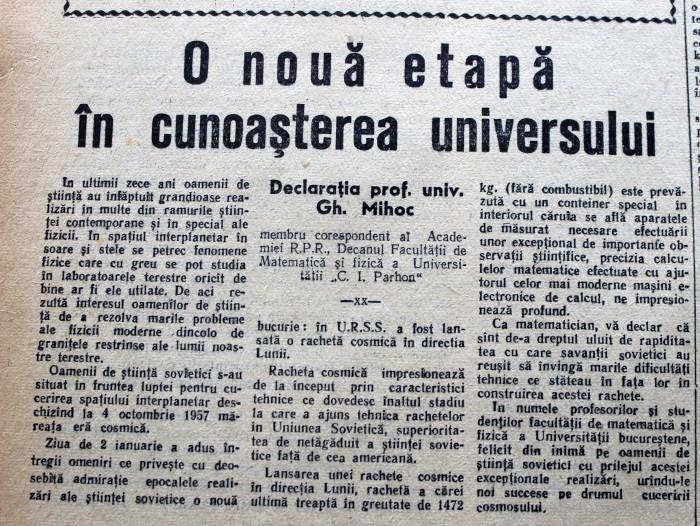 Scînteia Tineretului Racheta Cosmică Sovietică va deveni prima planetă artificială (5)