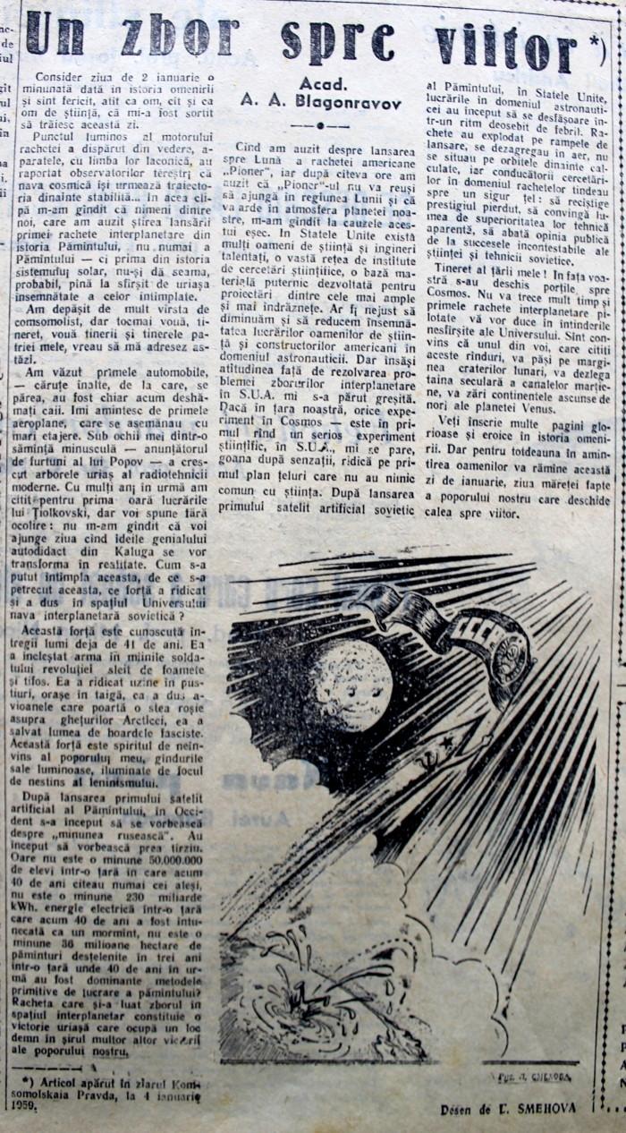 Scînteia Tineretului Racheta Cosmică Sovietică va deveni prima planetă artificială (8)