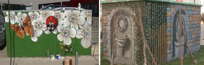 arta stradala pe zidurile ce inconjoara gunoaiele