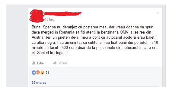 postare facebook omv