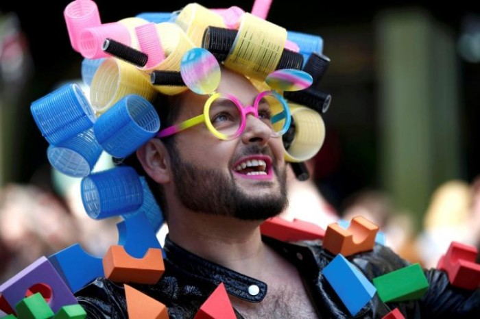 A participant takes part in the annual Pride London Parade which highlights issues of the gay, lesbian and transgender community, in London, Britain June 25, 2016. REUTERS/Peter Nicholls/Files