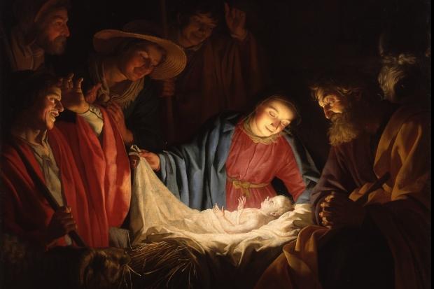 Adorarea păstorilor, pictură a lui Gerard van Honthorst(1622)