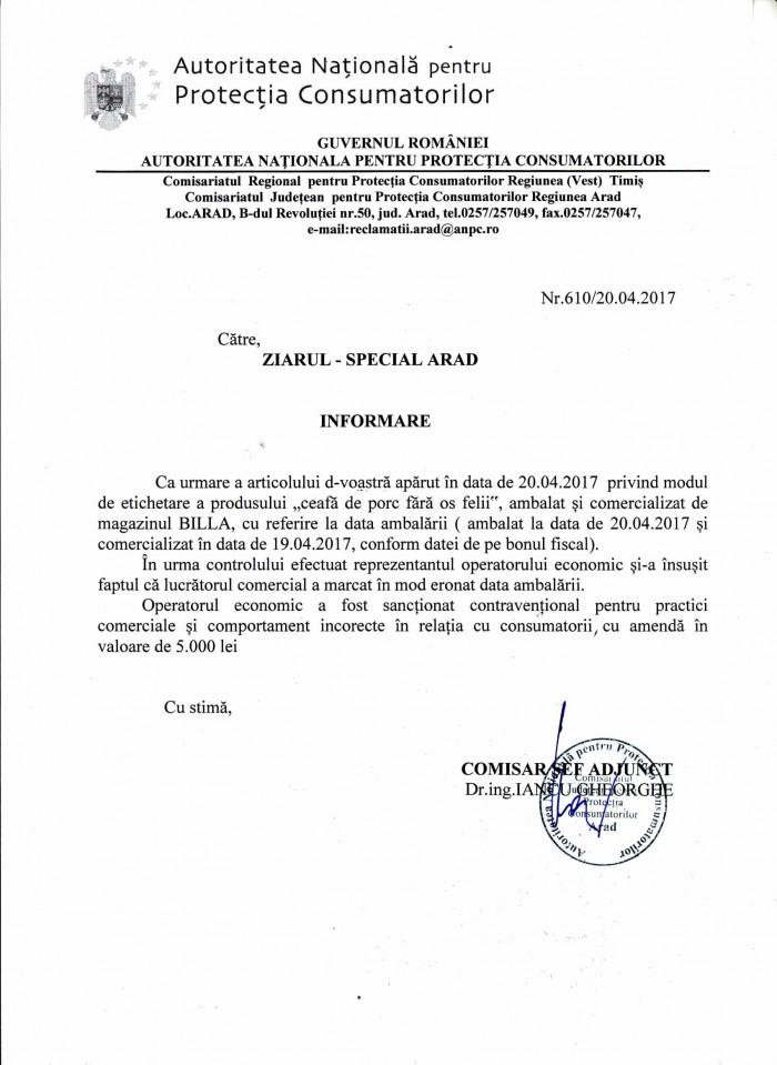 adresa ZIAR SPECIAL ARAD - inf carne BIlla-1