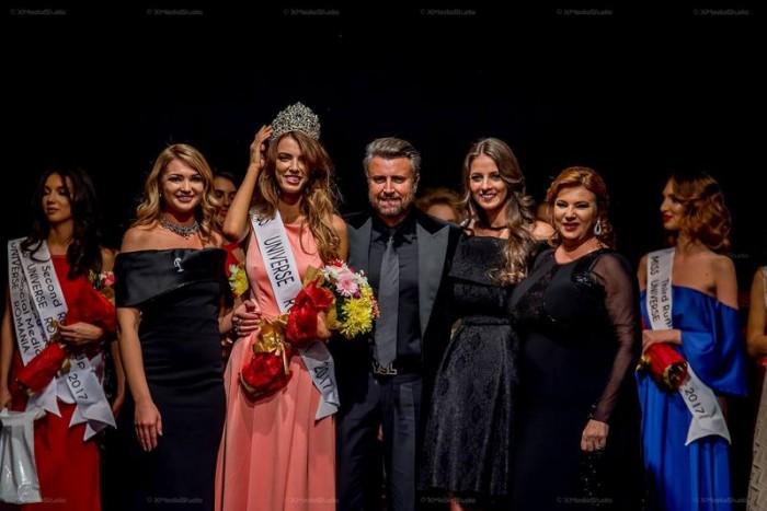 Ioana Mihalache si membrii juriului Miss Universe