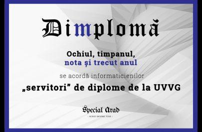 DIMPLOMA servitori de diplome de la UVVG