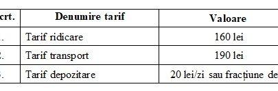 tarife ridicare masina arad