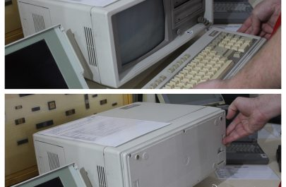 laptop vechi ciudat - Muzeu Retro IT Arad