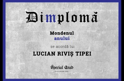 DIMPLOMA LUCIAN RIVIȘ TIPEI MONDENUL ANULUI