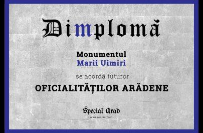 DIMPLOMA oficialităţilor arădene