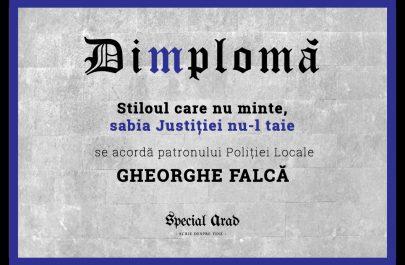 DIMPLOMA patronului Poliției Locale FALCA