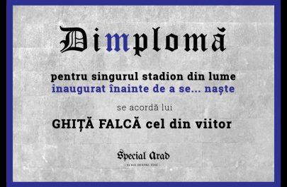 DIMPLOMA stadion GHIȚĂ FALCĂ cel din viitor