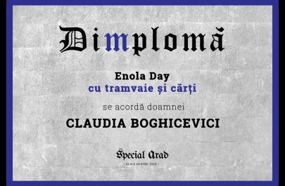 Dimploma Enola Day cu tramvaie și cărți