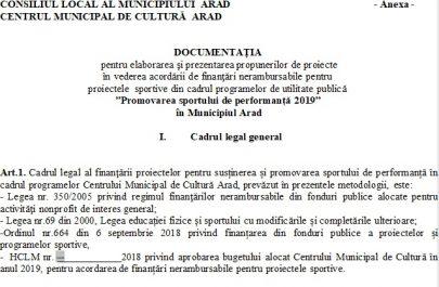 documentatie finantare proiecte cmca