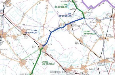 Harta traseu modernizare