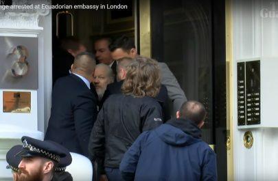 assange arestat captura video