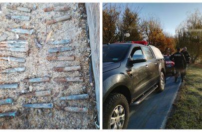 munitie gasite pe malul muresului arad