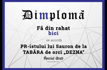 DIMPLOMA PR-istului lui Sauron