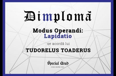 DIMPLOMA TUDORELUS TOADERUS
