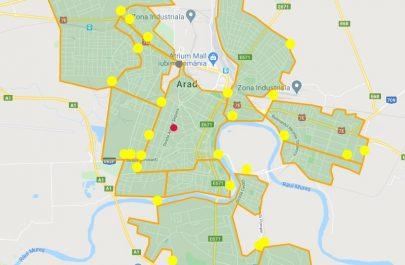 Harta_zone Arad