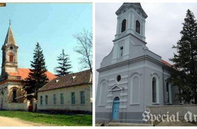 biserica reformata semlac - inainte si dupa - Heinz Vogel prima poza