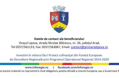 Îmbunătățirea calității vieții populației din Orașul Lipova