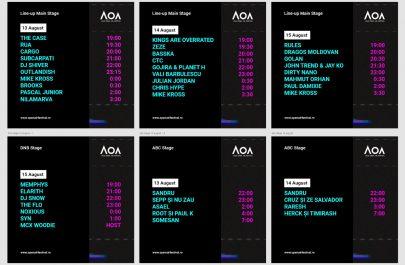 Program AOA2021 toate scenele